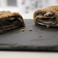 Receta de tronco de chocolate fitness