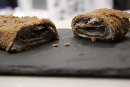 Receta de tronco de chocolate fitness