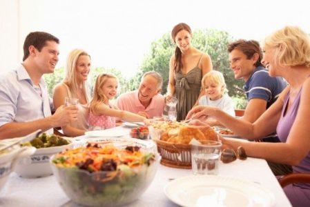 Las comidas familiares y la dieta